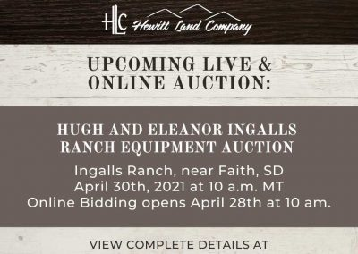 Hugh & Eleanor Ingalls Ranch Equipment Auction