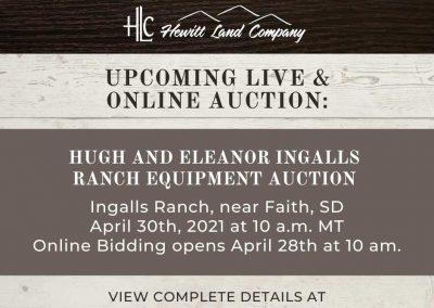 Hugh & Eleanor Ingalls Ranch Equipment Auction