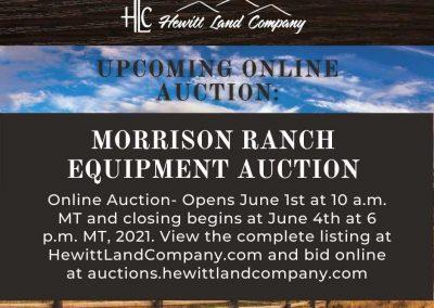 Morrison Ranch Equipment Auction